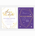 luxury wedding invitation and save the date card vector image vector image
