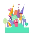 Magical fabulous cartoon castle flat vector image vector image