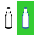 milk glass bottle isolated milk icon vector image vector image