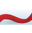 morocco waving national flag modern unusual shape vector image vector image