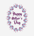 mother day flowers symbol icon vector image vector image