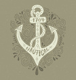 Nautical Lettering vector image vector image