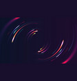 neon lights in motion moving circle shape vector image vector image