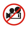 no video camera sign vector image