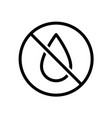 no water drop line style icon liquids are vector image