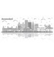 outline amsterdam netherlands city skyline