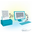 pc computer monitor keyboard printed text blank vector image vector image