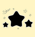 photoframe stars template for photo modern style vector image