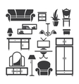 Room furniture vector image