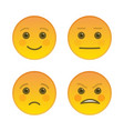 sad and joyful emoticons isolated on white vector image vector image