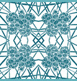 seamless aqua tile with lacy patterns hand vector image