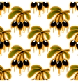 Seamless pattern of olive oil dripping from olives vector image vector image