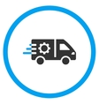 Service Car Rounded Icon vector image