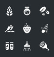 set of gmo icons vector image vector image