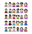 Set of people icons for your design vector image vector image