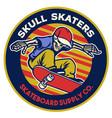 skateboard shop badge emblem design vector image vector image