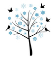 Snow Tree vector image vector image