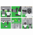 Soccer unsportsmanlike conduct vector image vector image