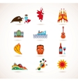 Spain Love - set of icons vector image