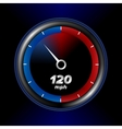 speedometr with black background vector image