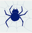 spider and spider web icon vector image vector image