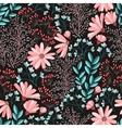 Spring floral pattern vector image