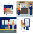 Subway People Design Concept vector image