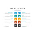 target audience infographic 10 option concept