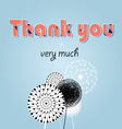 thank you card with font vector image