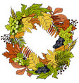 thanksgiving wreath for holiday lettering vector image