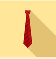tie icon flat style vector image vector image