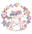 unicorn fantasy drawing cartoon vector image vector image