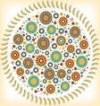 vintage circular floral ornament vector image