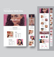 website template for a beauty salon with place vector image vector image