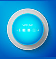 white volume adjustment icon on blue background vector image vector image