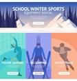 Winter Sport Banner vector image vector image