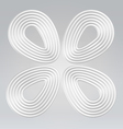 wire egg concentrical symbol vector image