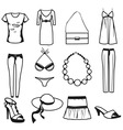 women clothes vector image