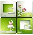 Green summer invitation card vector image