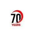 70th anniversary abstract logo seventy