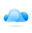 Abstract blue cloud vector image