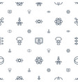 atom icons pattern seamless white background vector image vector image