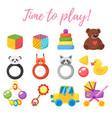 baby shower set of symbols vector image