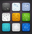 background for app icons-water drop part vector image vector image