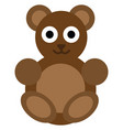 bear toy on white background vector image vector image
