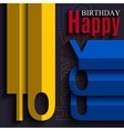 Birthday card with wishes text in the style of vector image vector image