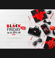 black friday sale background with bowtie vector image vector image