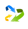 Blue Green and Yellow Arrows vector image vector image