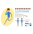 businessman character creation set for animation vector image vector image