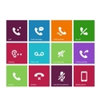 Call and handset icons on color background vector image vector image